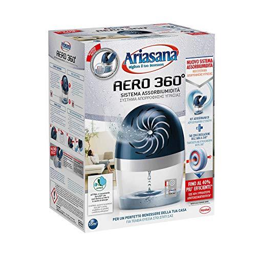 Ariasana Aero 360° kit assorbiumidità, deumidificatore ricaricabile non elettrico, assorbi...