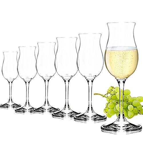 Bicchieri Graba 6 pezzi, forma stabile e classica, alta qualità, lunga durata, lavabile in lavastoviglie