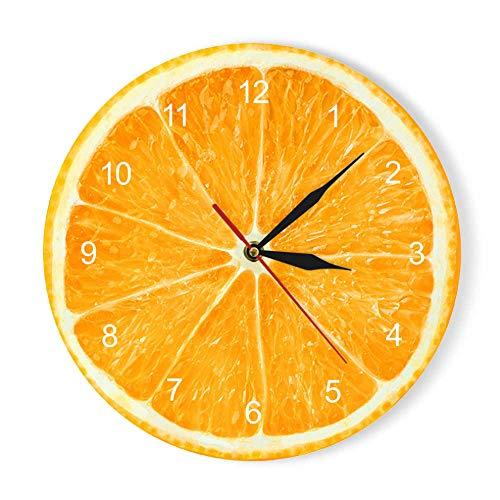 Orologio Da Parete In Acrilico Con Frutti Di Limone Arancione Orologio Da Cucina Moderno Con Pomelo Di Lime Orologio Da Arredamento Per La Casa Orologio Da Parete Con Frutta Tropicale Fresca GZ-1732