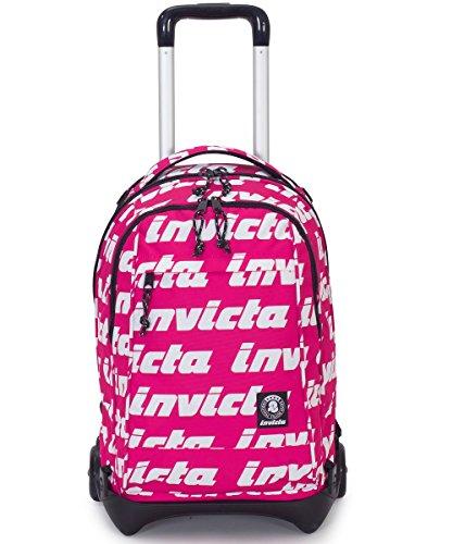 fbd1900fd3 TROLLEY INVICTA - PLUG LETTERING - Rosa - Zaino SGANCIABILE e LAVABILE - Scuola  e viaggio