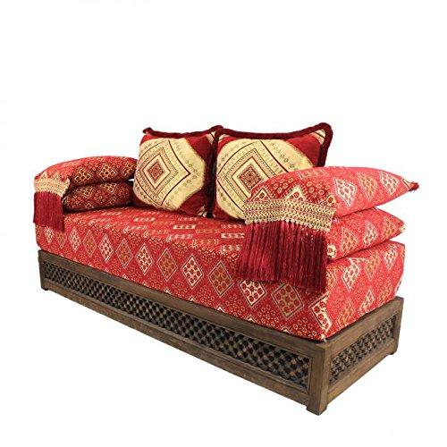 Casa Moro - Divano Marocchino Orientale - Pouf - Sark Kösesi - Seduta Nadia Completa di Telaio -...