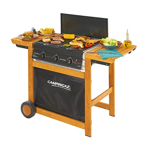 Campingaz Barbecue Gas Adelaide 3 Woody, Grill Barbecue a Gas a 3 Bruciatore, Potenza di 14 kW,...