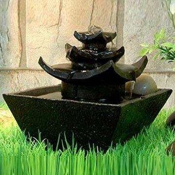 Zen'Light Fontaine d'Intérieur, Marrón, 16,5 x 16,5 x 15,5 cm 4