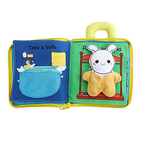Starter Libro di stoffa tridimensionale del bambino, giocattolo educativo di anti-rottura educativo...