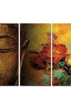 WONZOM Buda cuadros en lienzo pared Art Prints Zen 3piezas/set 16* 32cm totalmente listo para colgar para el hogar decoración de la pared