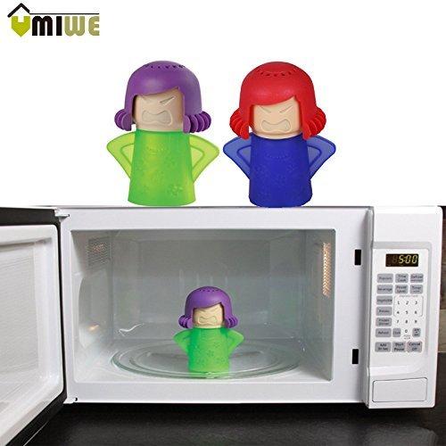 Generic verde: horno de microondas vapor limpiador vapor de agua Angry Mama fácil de limpiar con vinagre y limpia desinfecta hogar cocina herramientas