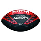 Wilson American Football, Recreational Use, Kids Size, NFL GRIP N RIP JUNIOR FOOTBALL RD, Red/Red, WTF1608XB