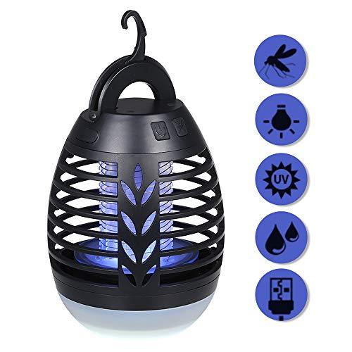 Lixada 2 in 1 Lampada Anti-zanzara IP66 Impermeabile USB Ricaricabile Luci Dell'insetto Luce da...
