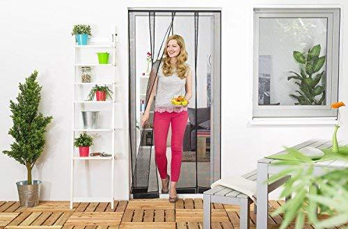 Wirksamer Insektenschutz: Lamellenvorhang aus Filatec-Gewebe 100 x 220 cm, Fliegengitter mit 4 Lamellen in weiß oder schwarz, einfach und schnell zu montieren