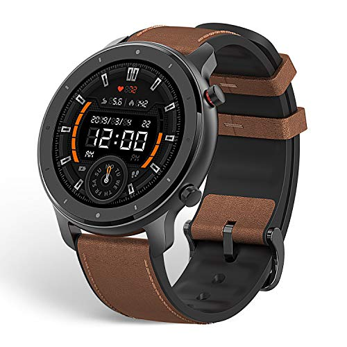 Amazfit GTR 47mm GPS Smart Watch with All-Day Heart Rate and Activity Tracking,Ultra-Long Battery Life (((Aluminum Alloy)