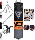 RDX Saco de Boxeo Relleno MMA Muay Thai Kick Boxing Artes Marciales con Soporte Pared Cadena Guantes 8PC 4FT 5FT Punching Bag
