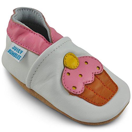 Scarpine Neonata Scarpe Bambina in Morbida Pelle - Cupcake - 12-18 Mesi