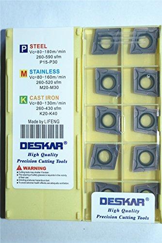 DESKAR 10P CCMT432 / CCMT120408 LF6018 CNC Turning Carbide Insert FOR-Steel parts