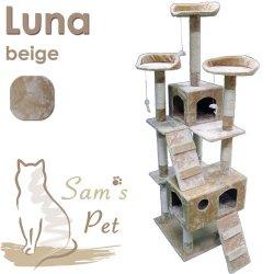 katzeninfo24.de Sam´s Pet Kratzbaum Luna – Höhe: 182 cm – beige