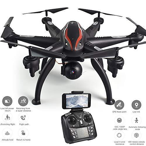 MBEN Droni Professionali e Fotocamere, 5G 110 ° grandangolare 1080P FPV WiFi GPS Posizionamento ESC...