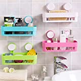 Bulfyss 1 Piece Bath and Kitchen Storage Shelf with Suction Cup Mounting for Keeping Toiletries, Kitchen Items and More