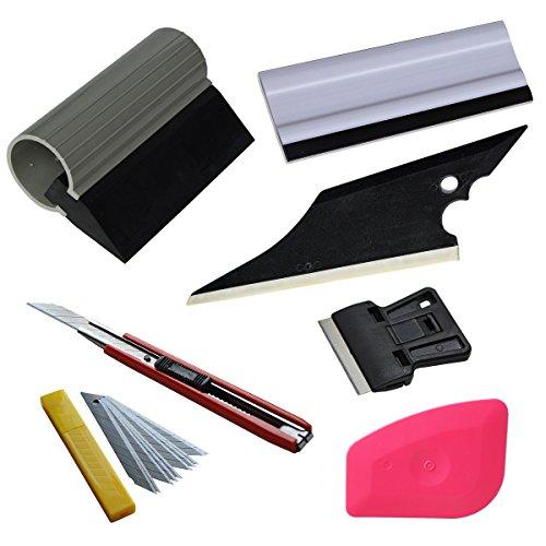 Ehdis® 6 en 1 Ventana de tinte del coche kit de herramientas para la instalación Conjunto automático de películas Polarizado escobilla de goma Aplicación del raspador