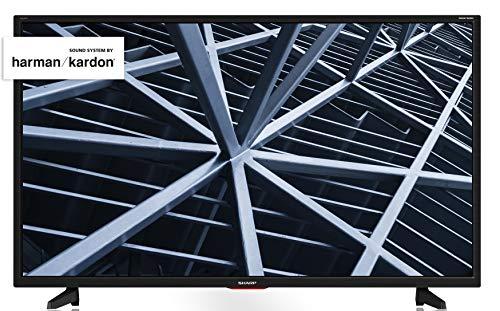 Sharp AQUOS TV 32' HD suono Harman Kardon SAT 3xHDMI 2xUSB uscite cuffie scart e audio digitale