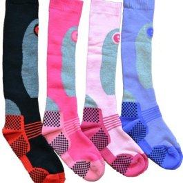 4 Paia Elevate Prestazioni Donna Ski Socks Lungo Tubo Calze Termiche Taglia 4-7