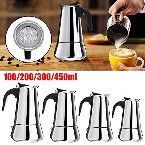 Gaddrt Caffettiera In Acciaio Inox Moka Espresso Latte Percolatore Stove Top Caffettiera Pot Tool...
