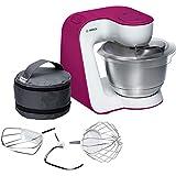 Bosch MUM54P00 Küchenmaschine StartLine, 900 W, 3,9 L Edelstahl-Rührschüssel, 3D Rührsystem, 7 Schaltstufen, wild purple