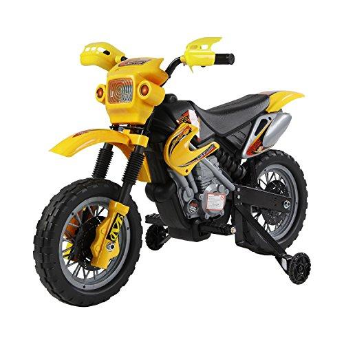 #Homcom® Kinderauto Kinderwagen Elektroauto Kinderfahrzeug Kindermotorrad Quad Elektroquad Kinderquad Elektromotorrad (Motorrad/gelb)#