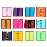 Sharplace 12 Pezzi Montessori Staccare Vari Bottone Giochi Educativi Esercizio Quotidiano Per Bambini