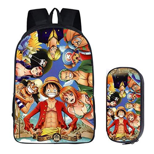 Cosstars One Piece Anime Immagine Borsa da Scuola Studenti Backpack Cartella Sacchetto da...