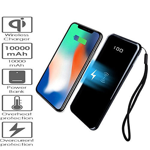 BETTERSHOP[QI-CERTIFIED] POWERBANK POWER BANK ULTRA SLIM FAST CHARGE CARICABATTERIE PORTATILE...