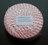 50m Kaliber 14 Räuchernetz Rot-Weiß / Bratennetz / Rollbratennetz für Einfüllrohr mit einem Durchmesser von ca. 100 mm