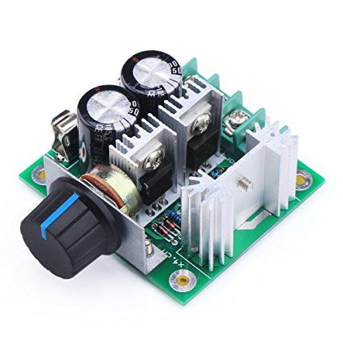 Specifiche:  Tensione di funzionamento: DC 12V-40V  Power Control: 0.01-400W  Corrente di riposo: 0.02A (standby)  Duty cycle del PWM: 10% -100% stepless  PWM Frequenza: 13 kHz  1,6 millimetri FR-4 PCB  Con protezione inversione di polaritš€,...