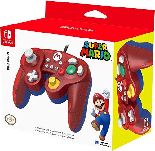 HORI Nintendo Switch Battle Pad (Mario) GameCube Style Controller - Nintendo Switch
