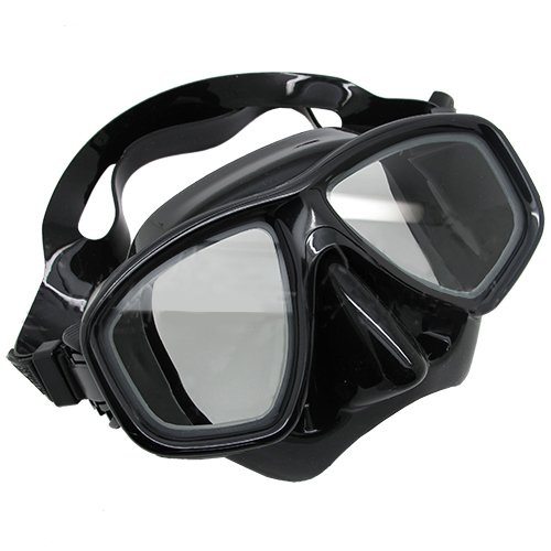 Scuba Choice Black Diving Dive Snorkel Mask Nearsighted Prescription RX Optical Corrective Lenses, -7.5
