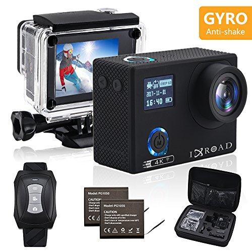 IXROAD Action Cam 4K Gyro WiFi Action Camera Fotocamera Telecamera Subacquea Videocamera Sportiva...