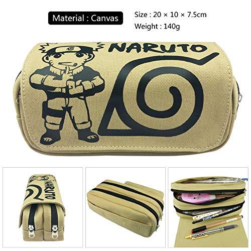 Maneray Astuccio per Matite Naruto Anime Cosplay Sacchetto da Cancelleria Astuccio Cassa di Matita...
