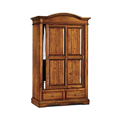 InHouse srls Armadio con ante scorrevoli, arte povera, in legno massello e mdf con rifinitura in...