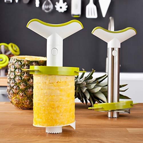 Vacu Vin 48702606 - Cortapiñas, con 3 piezas de cortapiñas y troceador, color blanco de Tomorrow`s Kitchen
