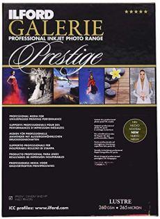 Ilford Galerie Prestige Lustre - Pack 25 Hojas de Papel A3+, Color Blanco