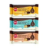 Vive Natural Protein Snack Bar, Dark Chocolate Coated Mixed Box, 10g Plant Protein - 12 x 49g