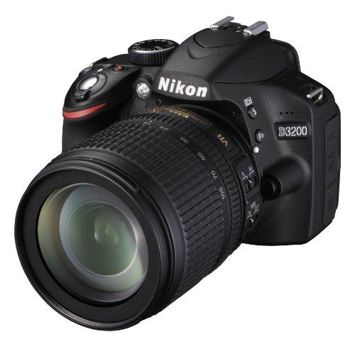 Nikon D3200 +18-105VR , Fotocamera Reflex, Colore Nero, Obiettivo incluso [Versione EU]