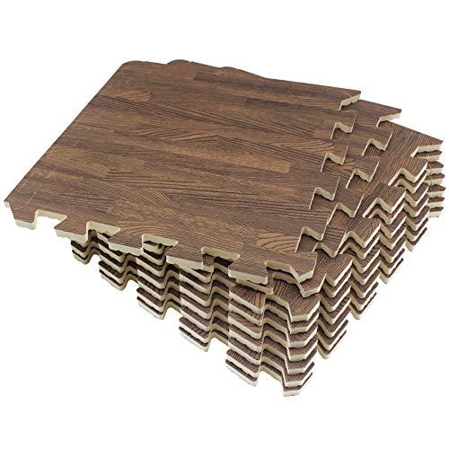 Umi. Essentials, pannelli di spugna per pavimenti, incastrabili, 30cm x 30cm, set da 9/18 pezzi