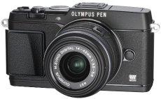 """Olympus E-P5 - Cámara EVIL de 16.1 Mp (pantalla 3"""", estabilizador óptico, grabación de vídeo), negro - Kit cuerpo con objetivo 14-42 mm II R"""
