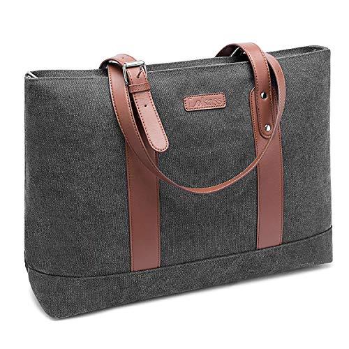 68b5fd7e561e5 FOSTAK Damen Umhängetasche Aktentasche Messenger Bag Reisetasche stilvoll  Shopper tragbar Schultertasche Tote Bag Business Arbeitstasche Laptoptasche  für 15 ...