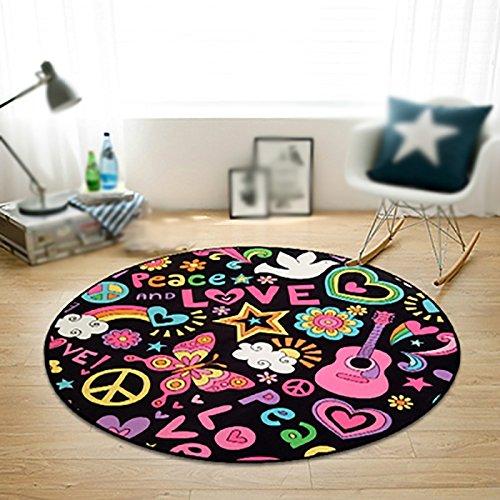 Creative light Soggiorno moderno tappeti tondi Tappeti a rotelle per computer da letto Sedia da...