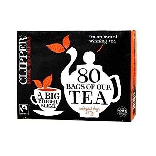 Clipper fairtrade everyday tea (fairtrade) (black tea) (everyday) (80 bags) (brews in 2-4 minutes)
