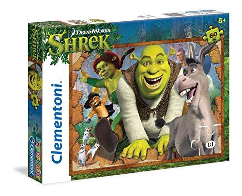 Clementoni - 26945 - Supercolor Puzzle - Shrek, Ogres Rock - 60 Pezzi