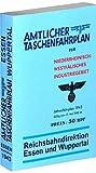 Amtlicher Taschenfahrplan für Niederrheinisch-Westfälisches Industriegebiet - [Reichsbahndirektionen ESSEN und WUPPERTAL] Jahresfahrplan 1943