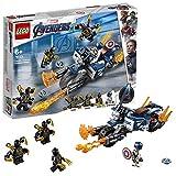 LEGO Super Heroes Captain America, Attacco degli Outrider con Captain America e 3 Outrider, Set di Costruzioni per Bambini +6 Anni e Fan di Marvel Avengers, 76123