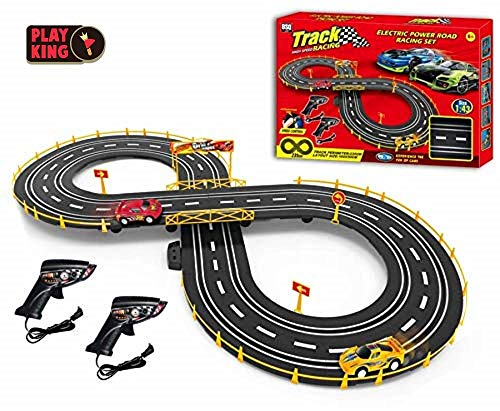 Barodian's Smart Toys Slot Car Set with Racing Assistant High Speed Track Racing Set, 235cm Track, Best Gift for Kids 6+