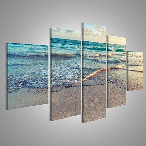 islandburner Quadro moderno Beach mare di sabbia Stampa su tela - Quadro x poltrone salotto cucina mobili ufficio casa - fotografica formato XXL